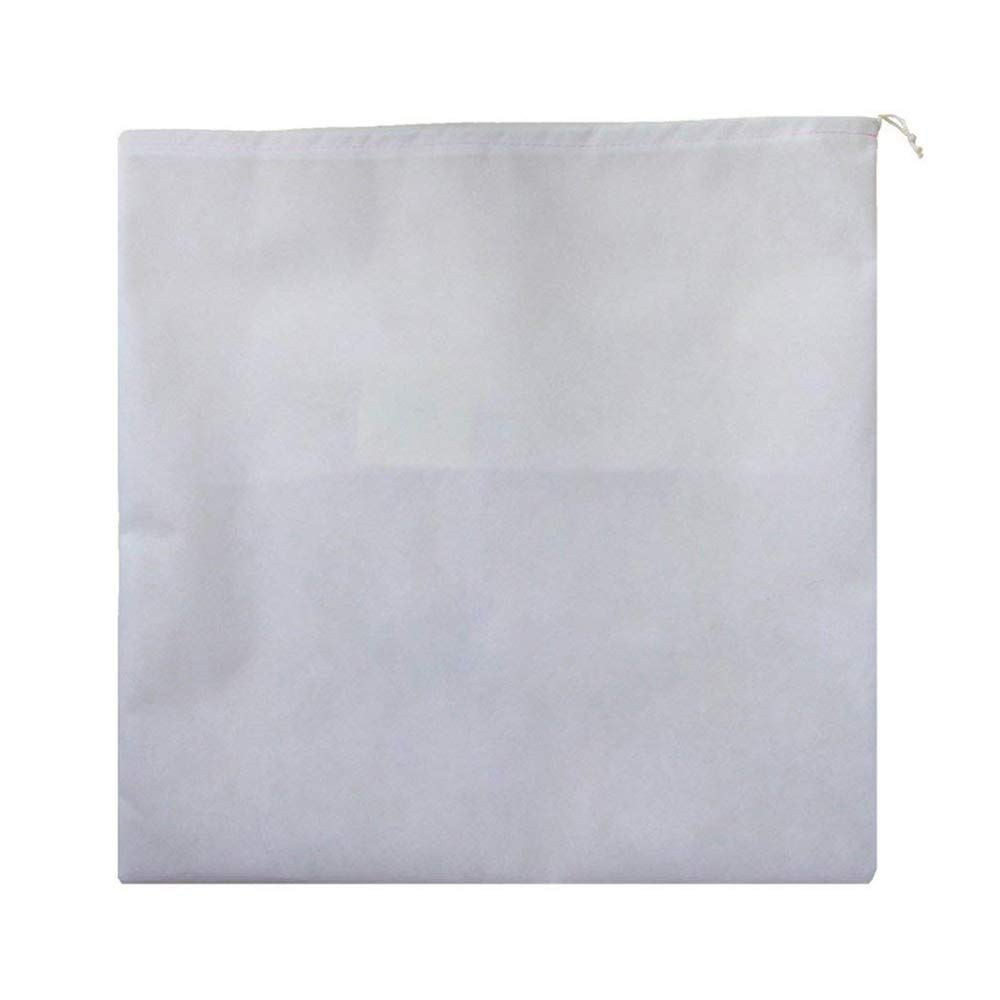 Xeminor 10Pcs Non-Woven Shoe Bag Travel Dustproof Drawstring Organizer Travel Carrying Supplies(White) by Xeminor (Image #3)