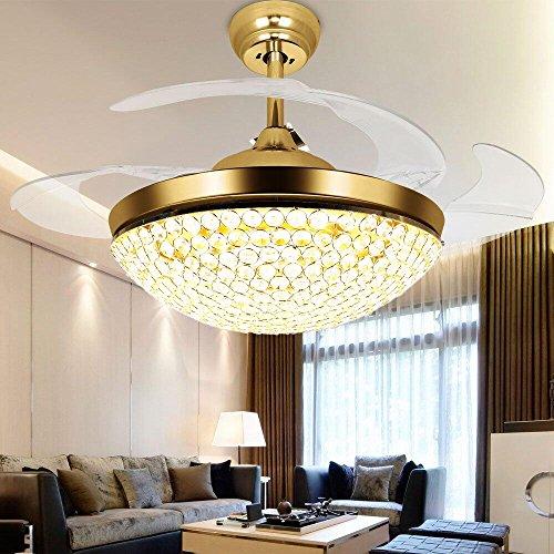 TiptonLight Gold Ceiling Fans 42 Inch Led Ceiling Fan Lights