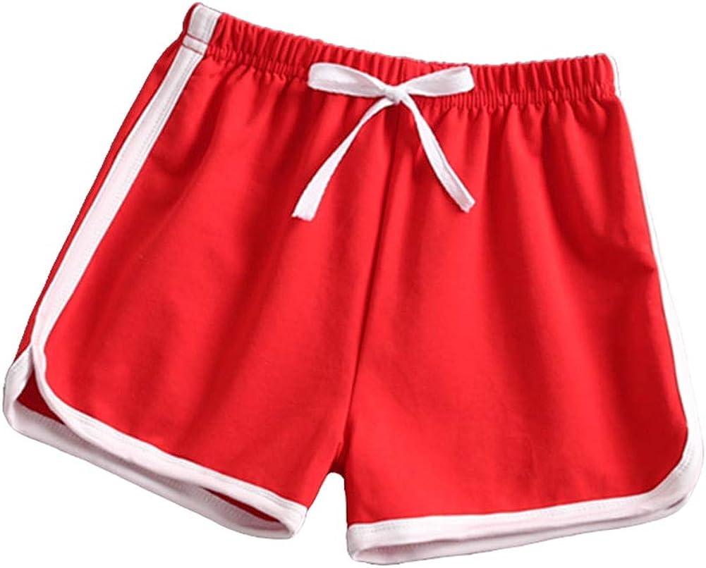taitaibaby Girls Shorts Toddler Kids Running Shorts Summer Sport Casual Short Pants 3-10 Years