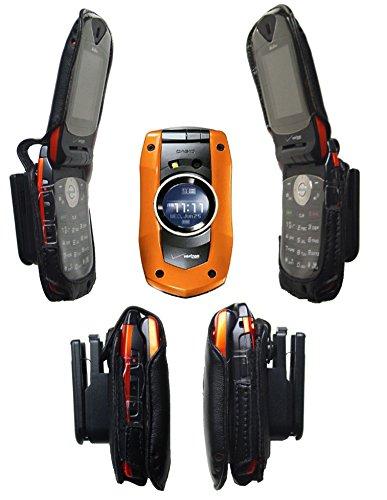 - C711 Verizon CASIO Boulder Flip Leather Holster 711 G'Zone bolder g zone G' zOne Clip Cell Case GZONE