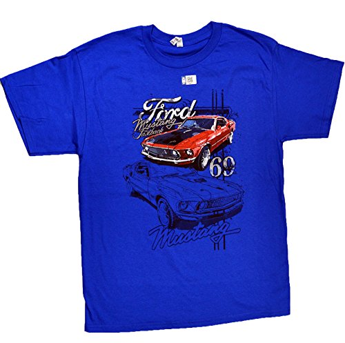 Blue Ford 1969 Fast Back Mustang Shirt (M)