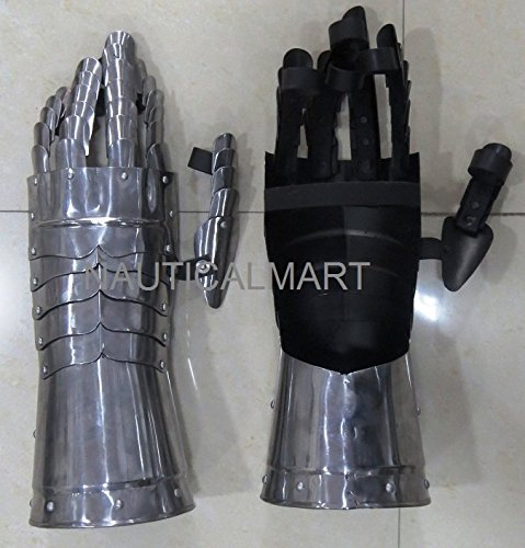 Medieval Functional Pair Of Armor Gloves halloween costume