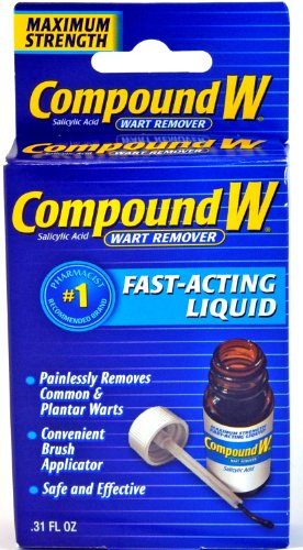 Compound W Maximum Strength Wart Remover, Fast Acting Liquid,Effectively Removes Warts by Killing Warts FAST, 0.31 Fl Oz
