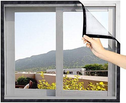130 x 150 cm Eageroo Negro Mosquitera para ventanas con cinta de velcro