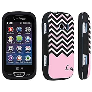 DuroCase ? LG Extravert 2 Hard Case Black - (Black Pink White Chevron L)