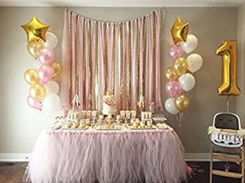 Amazoncom First Birthday Baby Girl Balloons Decoration 40 number