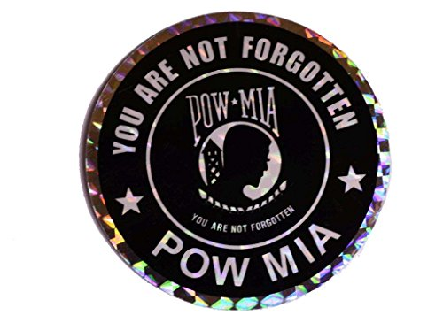 AES Industries Wholesale Lot 6 Powmia POW MIA You are Not Forgotten Prisoner of War Missing in Action Reflective Decal Bumper Sticker