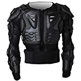 Tera P14 Motorbike Motorcycle Full Body Armour Armor Protector Guard Shirt Jacket with Widen Back Protection from Hard Plastic and Breathable Mesh for Motocross ATV Road Motorcycling etc. C-Size Black