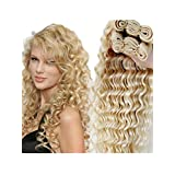 Wigsforyou@Brazilian Blonde Curly Hair Extensions Brazilian Deep Wave 613 Blonde Virgin Hair 1 Bundle Honey Blonde Brazilian Hair Free Ship by Wigsforyou