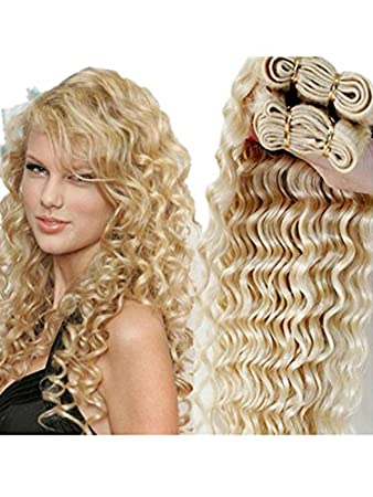Amazon wigsforyoubrazilian blonde curly hair extensions wigsforyoubrazilian blonde curly hair extensions brazilian deep wave 613 blonde virgin hair 1 bundle pmusecretfo Gallery