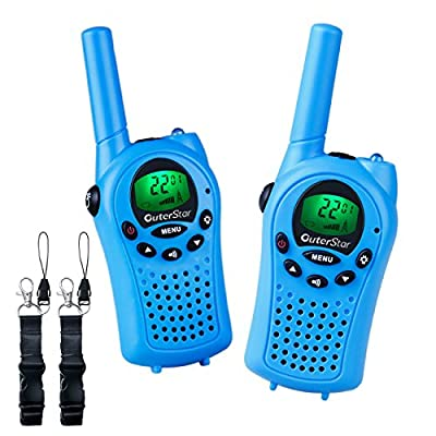 OuterStar Durable Walkie Talkies for Kids,22 Channel FRS/GMRS 5 Miles Long Range Two Way Radios with 2 Free Straps Back-lit LCD Screen/Handheld for Kids/Families Toys, Games, Gifts