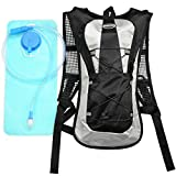 Hydration Pack with 2L Backpack Water Bladder for Hiking Running Biking Color Black