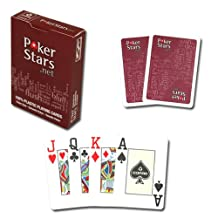Copag PokerStars Poker Size Jumbo Index Plastic Playing Cards (Red)