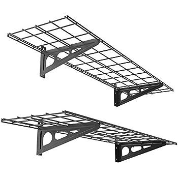 FLEXIMOUNTS 2 Pack 1x4ft 12 Inch By 48 Wall Shelf