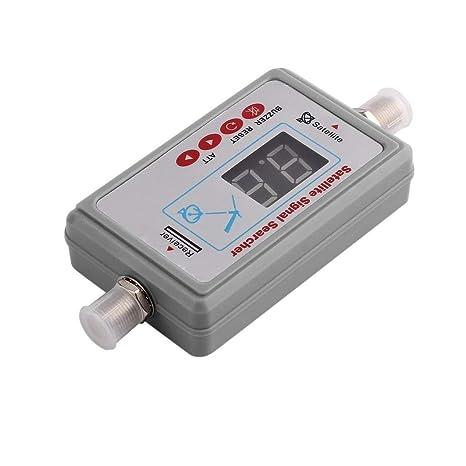 vige Mini Antena Digital Portátil Buscador de Señal de Satélite LCD Zumbador JS-SF05 TV