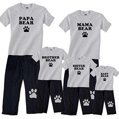 Bear Family Matching Pajamas & Kids Clothing Sets - Mama Bear, Papa Bear, More