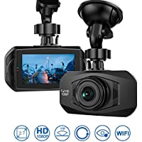 HiCool Car Dash Cam, Full HD 1080P 170° Wide Angle Dashboard Camera Recorder with WDR, Built-in WiFi, G-Sensor, Sony Sensor HD Night Vision 2.7LCD Parking Monitor