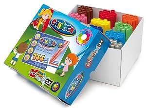 Carioca - Caja de rotuladores para colegios (144 unidades, tamaño grande), multicolor