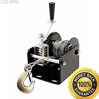 COLIBROX--2000 lb Capacity Worm Gear Portable or Mountable Hand Winch Trucks Trailers etc. hand truck with winch. hand crank winch lifts. hand winch stacker. best hand crank winch home depot.