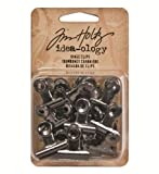 Advantus Idea-Ology Hinge Clips, Antique Nickel by Advantus