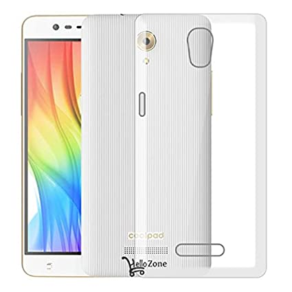 Hello Zone Exclusive Soft Transparent Back Cover Back Case Cover For  Coolpad Mega 3