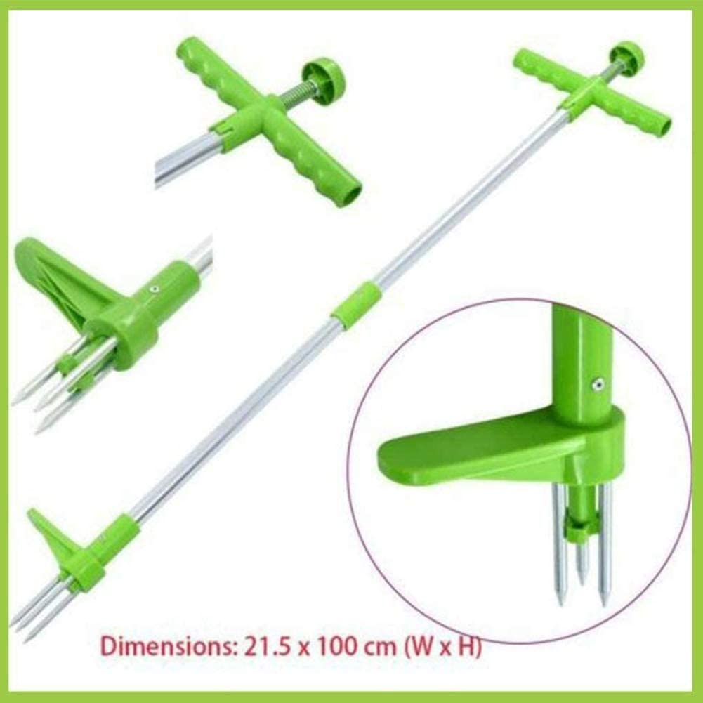 Stainless Steel Weed Puller Twister LOPP Standing Plant Root Remover Long Handled Lightweight Tool Root Killer Remover for Lawn Easy