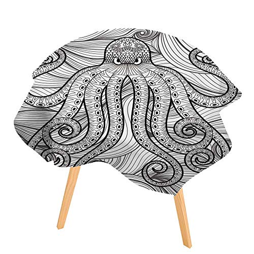 PINAFORE Polyester Dust-Prooftablecloth Octopus in sea for Adult
