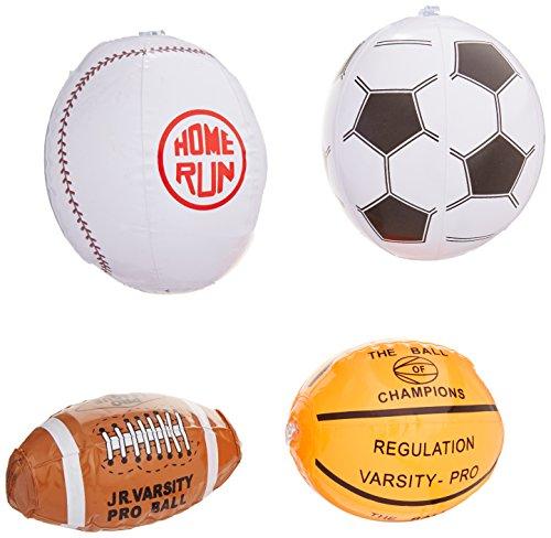12 Mini SPORTS BALL Beach BALL Inflates/8