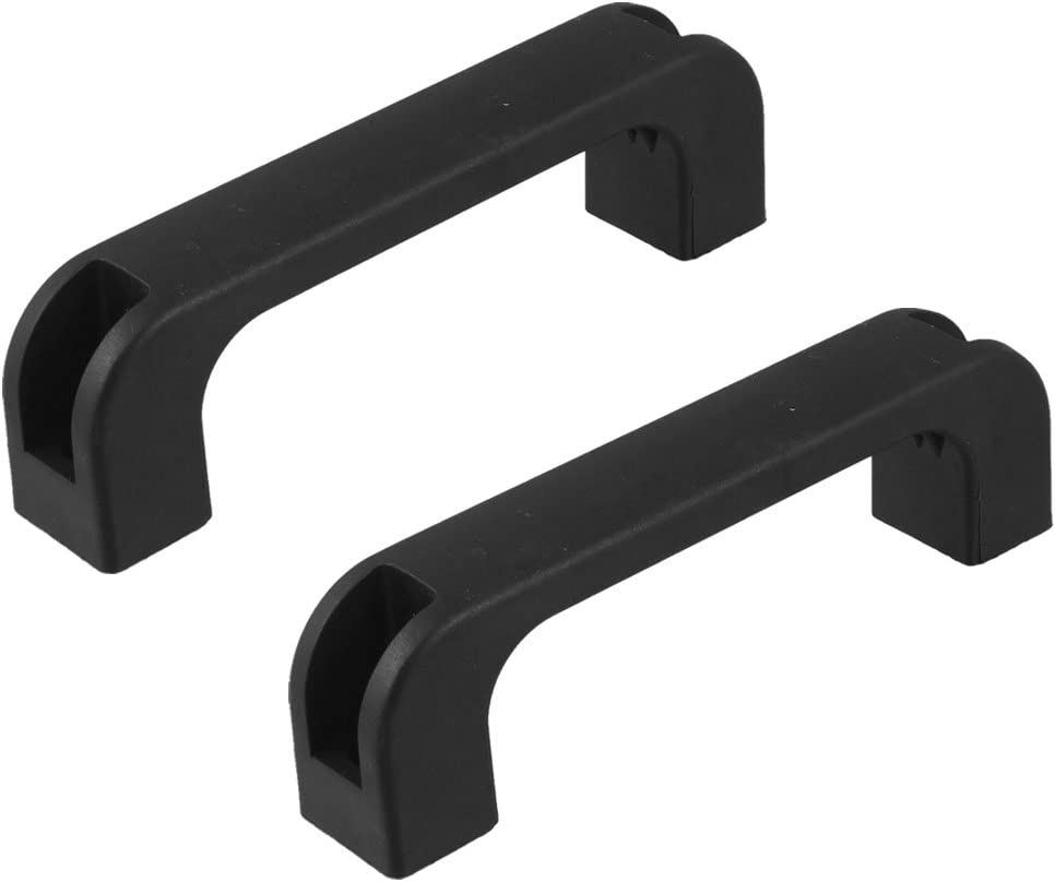 Sourcingmap A12110600UX0727 - Pack de 2 tiradores en forma D para cajones de armarios (plástico, 120 mm) color negro