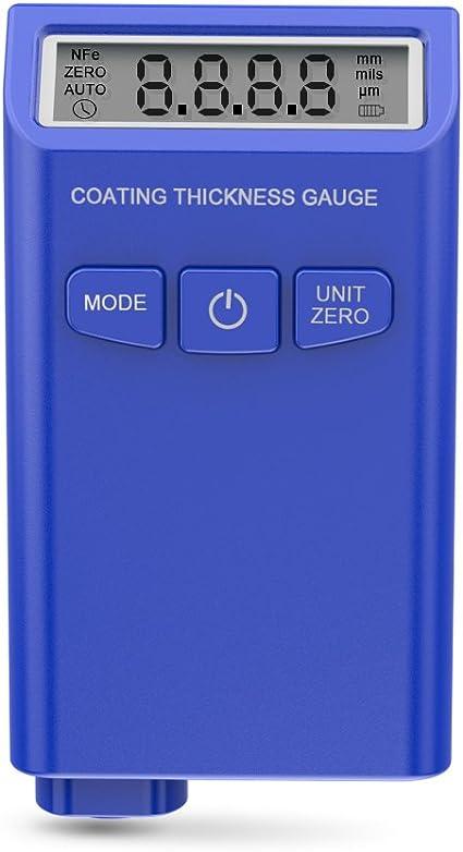 Bleu ERAY Num/érique Mesureur d/épaisseur de Rev/êtement de Peinture de Voiture Avec Ecran LCD Batterie Inclus