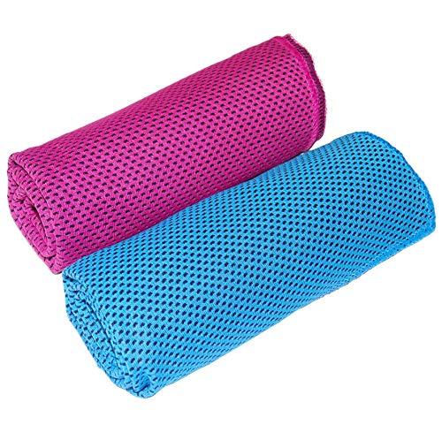 [해외]Aewio 쿨 타월 냉각 수건 냉 타월 냉동 타월 일사병 방지에 서 늘 타 올 여름 차가운 수건 (2 개 세트) / Aewio cool towel cooled towel cooling towel cold towel for heat stroke hot spring towel (2 pieces)