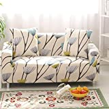 HYSENM 1/2/3/4 Seater Sofa Cover Home Décor Stretch Elastic Sofa Slipcover Couch Cover, Dandelion 1 seater 85-140cm