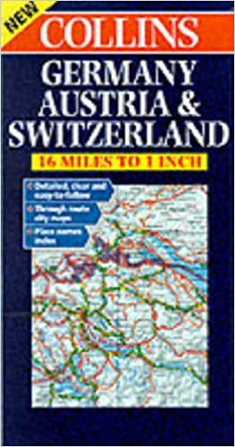 Map Of Germany 2000.Germany Austria Switzerland Rd Map Harper Collins Publishers