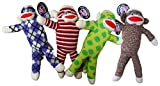 Pet Qwerks Sock Monkey, Assorted - Best Reviews Guide