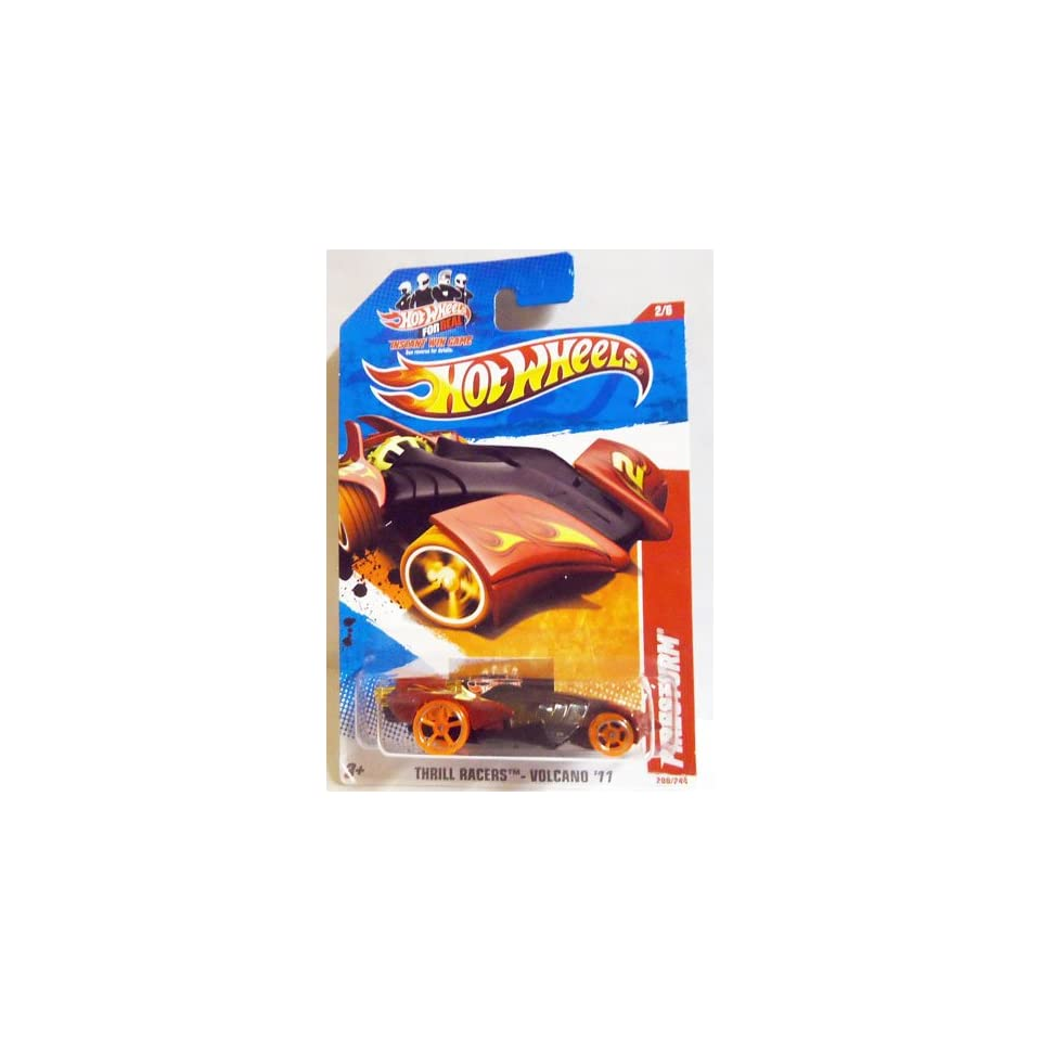 2011 Hot Wheels Black Red FIRESTORM #200/244, Thrill Racers Volcano 11 #2/6