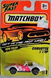 MATCHBOX NEW COLOR SUPER FAST WHITE/PINK CORVETTE T-TOP #58