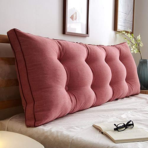 Cushion Filled Bolster - KDAB Headboard Cushion Removable Bedside Back Cushions,Sofa Bed Upholstered Headboard,Soft Tatami Double Large Lumbar Support Cushion (Color : O, Size : 150x20x50cm(59x8x20inch))
