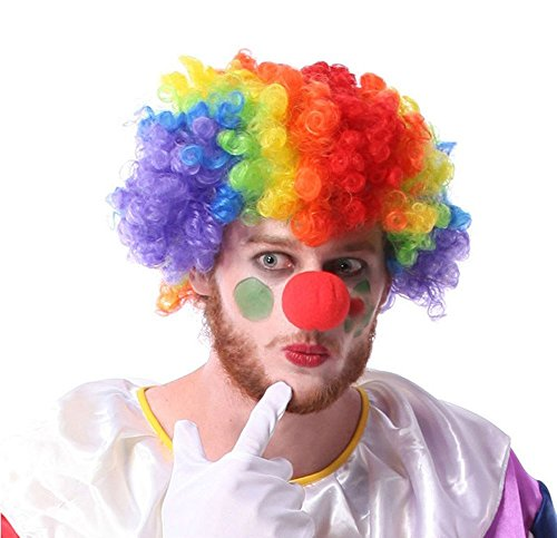 LoveInUSA Clown Wig and Foam Clown Nose (Clown Outfit For Kids)