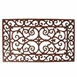 Esschert Design Small Doormat in Antique Brown - Rectangle 24'' x 14''