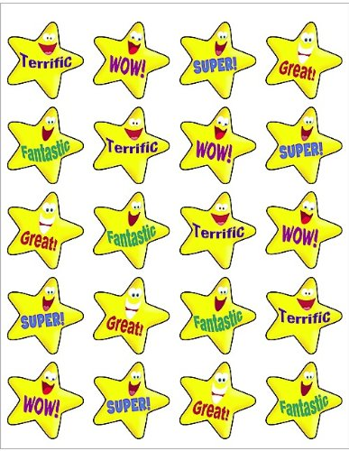 Teacher Created Resources Encouraging Stars Stickers 5126