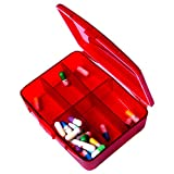 XINHOME-6-Compartment-Pill-Box-Holds-Up-to-200-Tablets-Gasketed-Waterproof