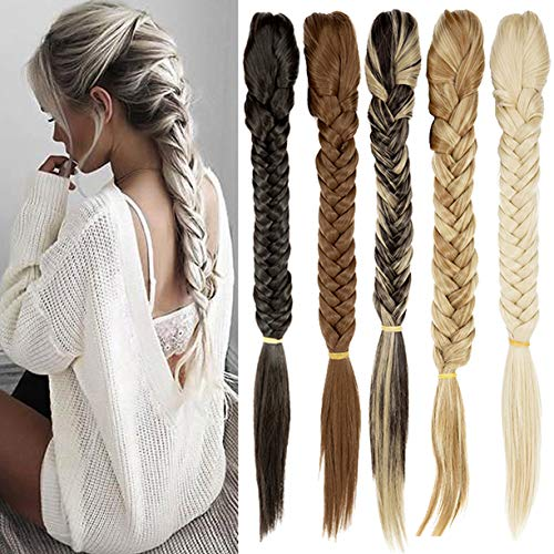 - FUT Womens Claw Ponytail Clip in Hair Extensions 21 inches Long Straight Hairpiece