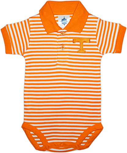 Tennessee Striped Shirt - University of Tennessee - Knoxville Volunteers Newborn Striped Polo Bodysuit Tn Orange 0-3 Months