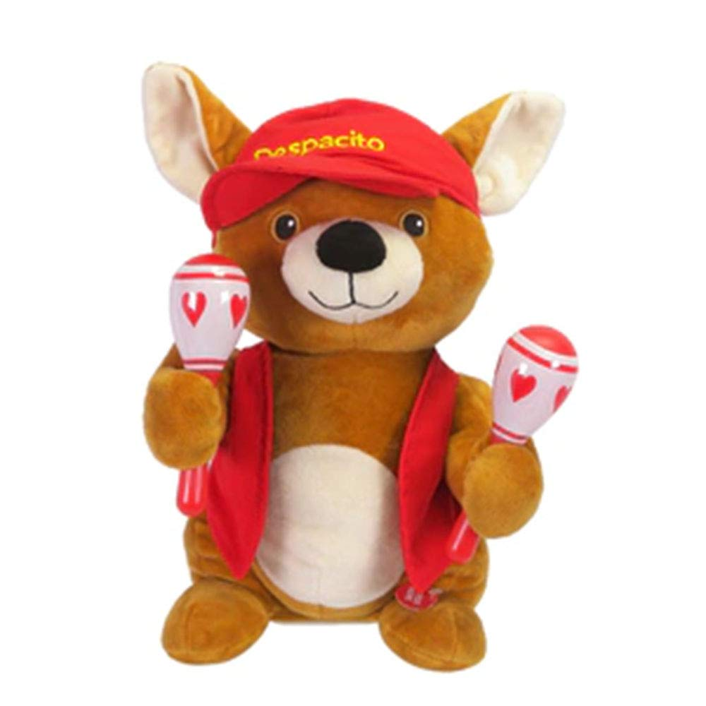 Singing Dancing Animated Chihuahua with Maracas Plush Dog Stuffed Animal - Valentines Gift for Her - Sings Despacito by Red & Pink