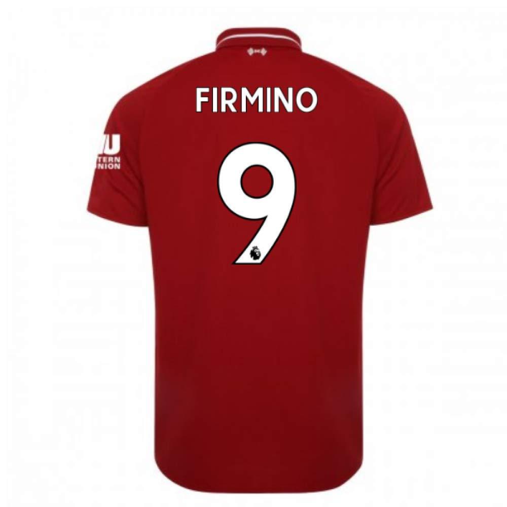 2018-2019 Liverpool Home Football Soccer T-Shirt Trikot (Roberto Firmino 9) - Kids