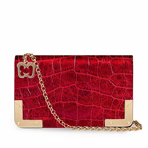 Eric Javits Luxury Fashion Designer Women's Handbag - Cassidy - Red by Eric Javits