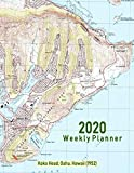 2020 Weekly Planner: Koko Head, Oahu, Hawaii (1952): Vintage Topo Map Cover