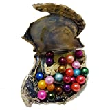 Wish pearls 20 Pieces Mix 24 Different Colors 6-7 MM Round Pearls In Akoya Oysters Lucky Rainbow Beads On Sale