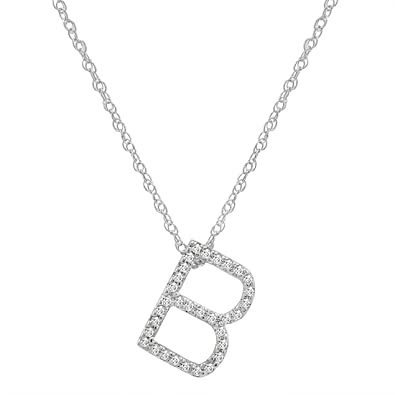 bengjo necklace alphabet initial ctw pendant gold b diamond grande products letter