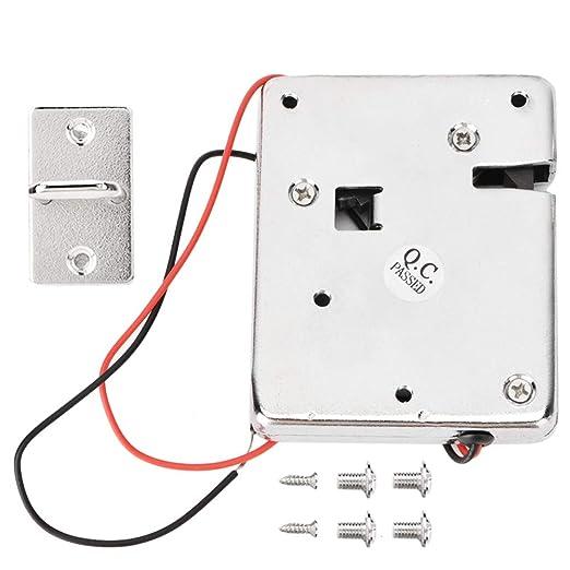 BTIHCEUOT Cerradura eléctrica, Cerradura electromagnética de 12 V ...